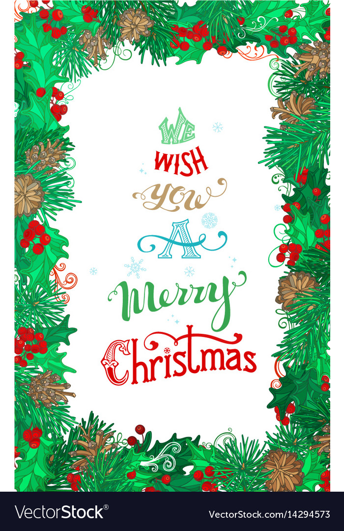 We wish you a merry christmas Royalty Free Vector Image