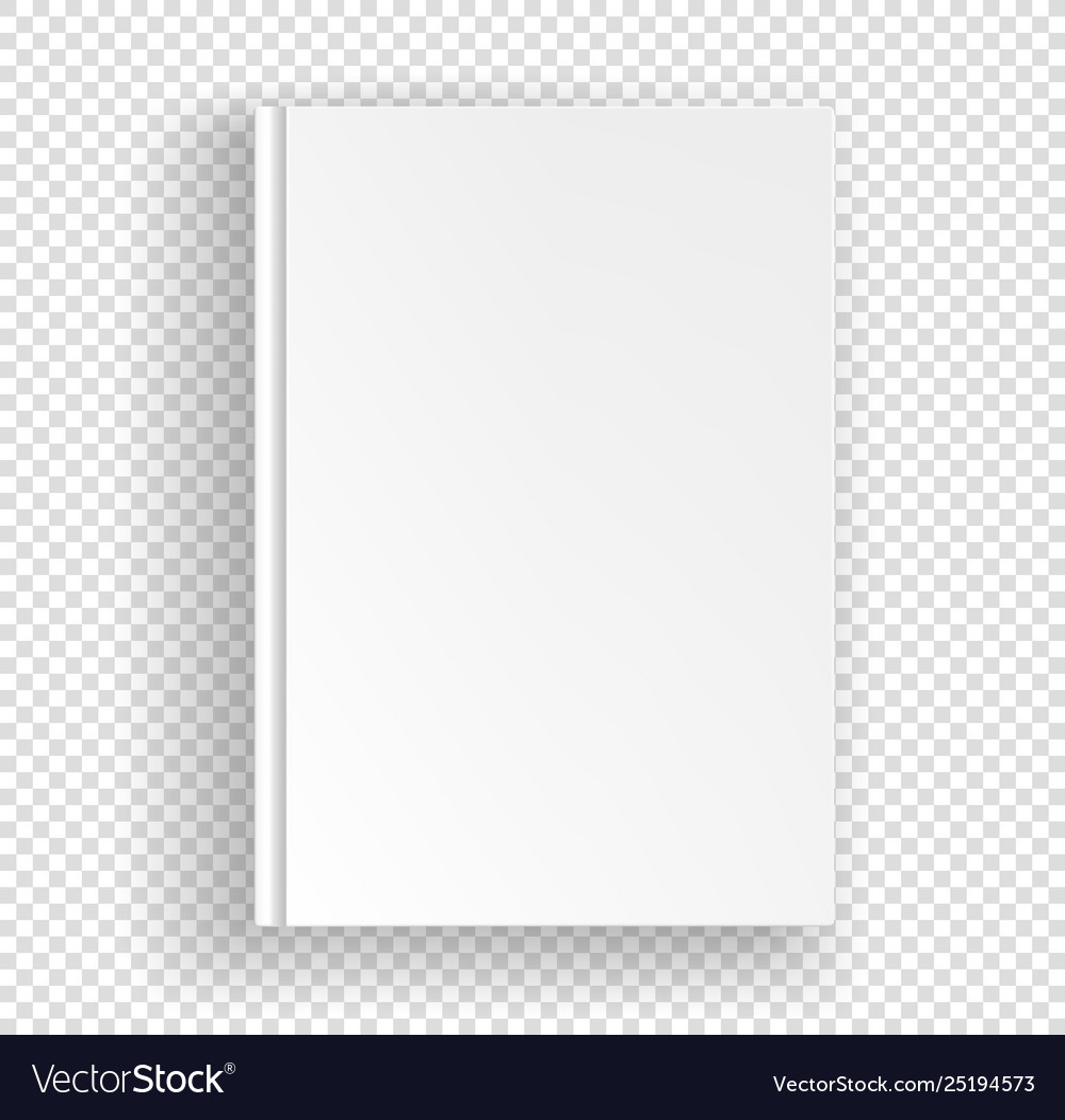 White book a4 format mock up isolated on