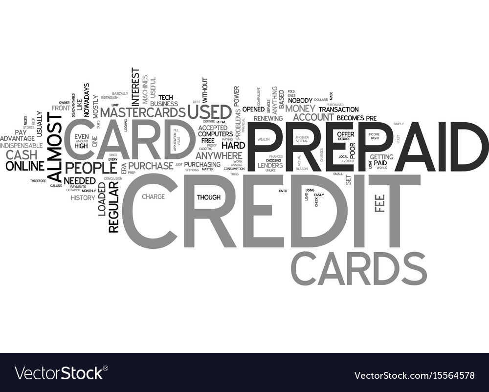 a credit free card what is a prepaid credit card vector image - Free Prepaid Credit Card