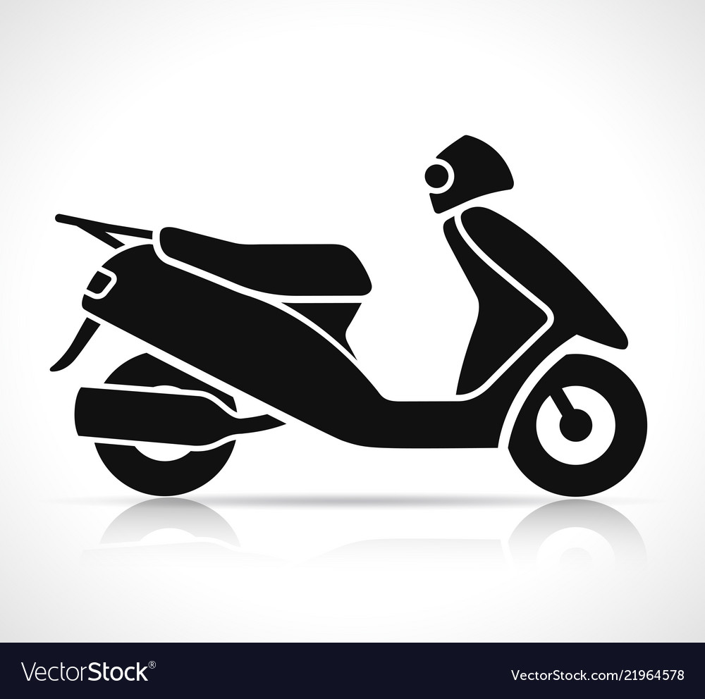 black scooter icon royalty free vector image vectorstock vectorstock