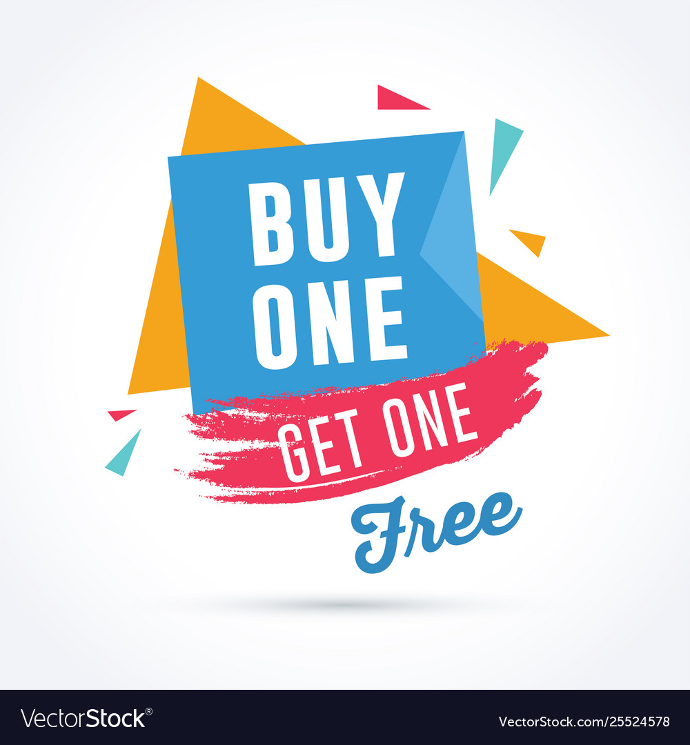 buy one and get one free