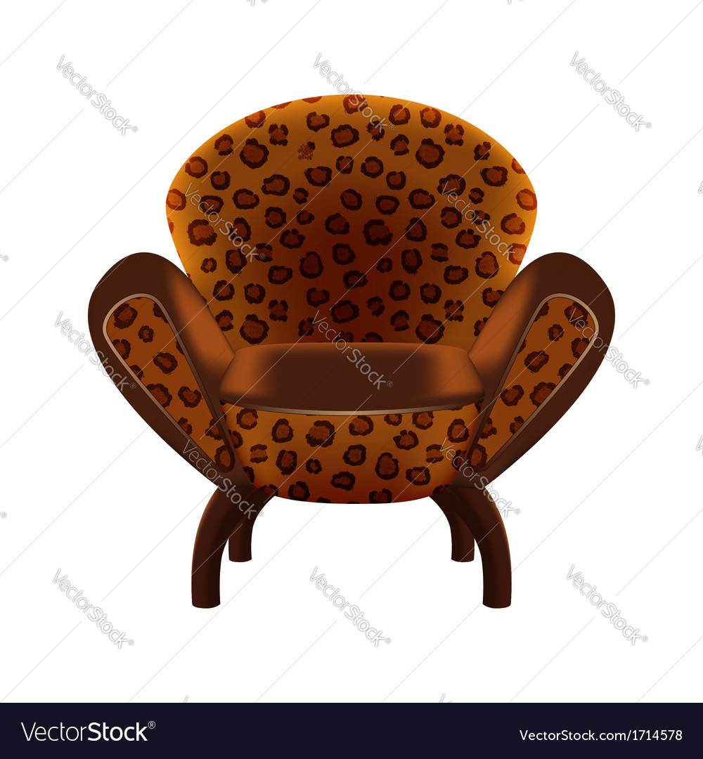 Chair In Leopard Print Upholstery Vector Image