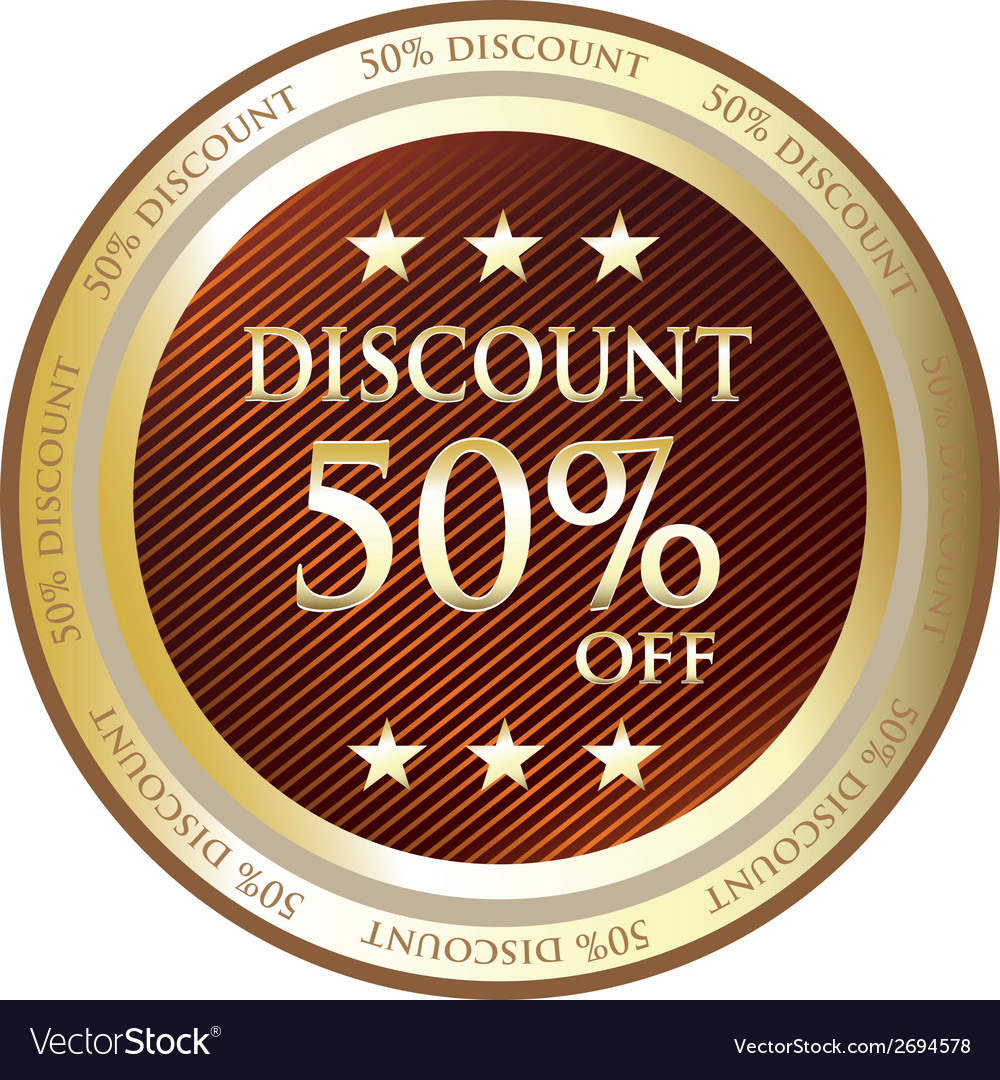 Fifty Percent Discount Gold Label