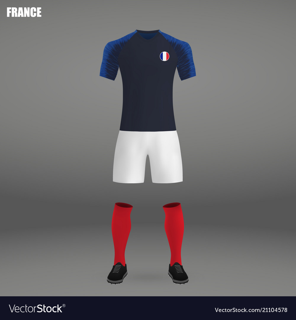 e8210f13756 Football kit of france 2018 Royalty Free Vector Image