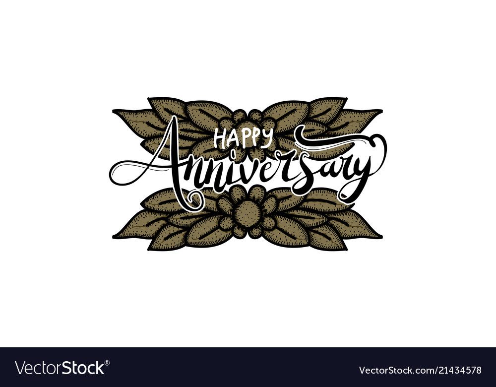 happy anniversary template royalty free vector image