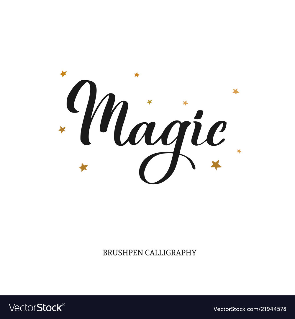 Magic brushpen modern calligraphy