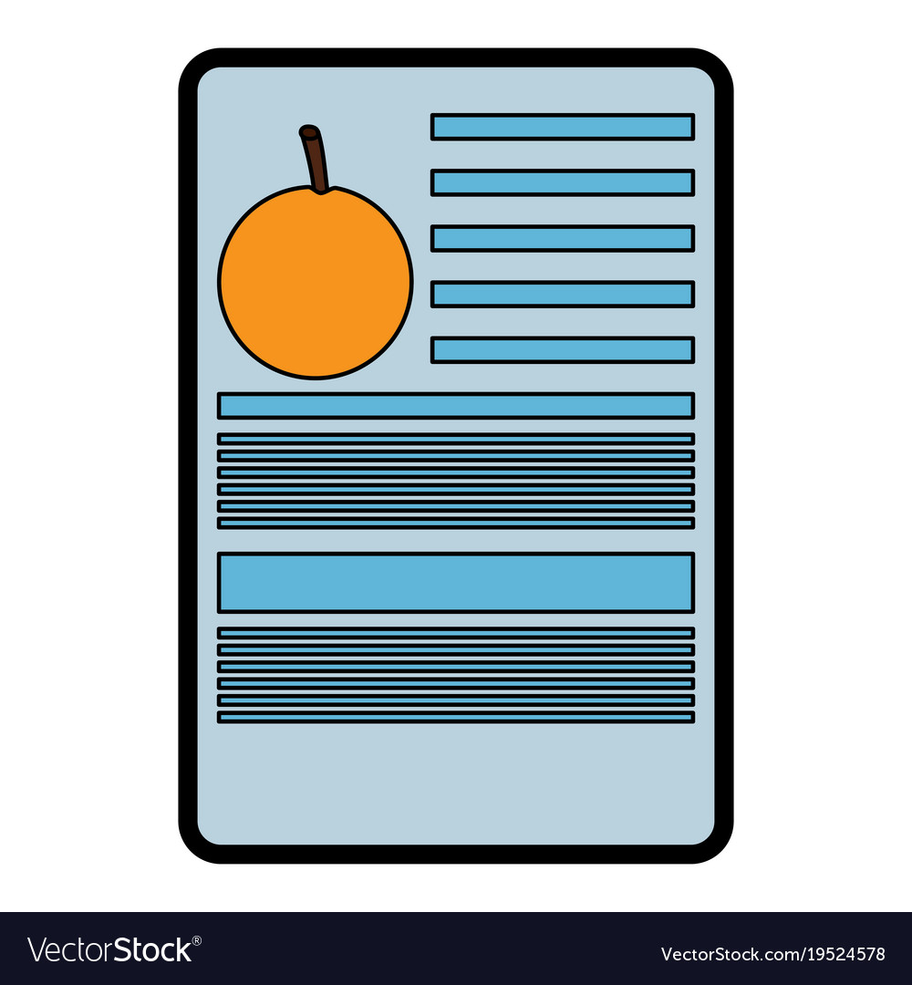 orange nutrition facts label template royalty free vector
