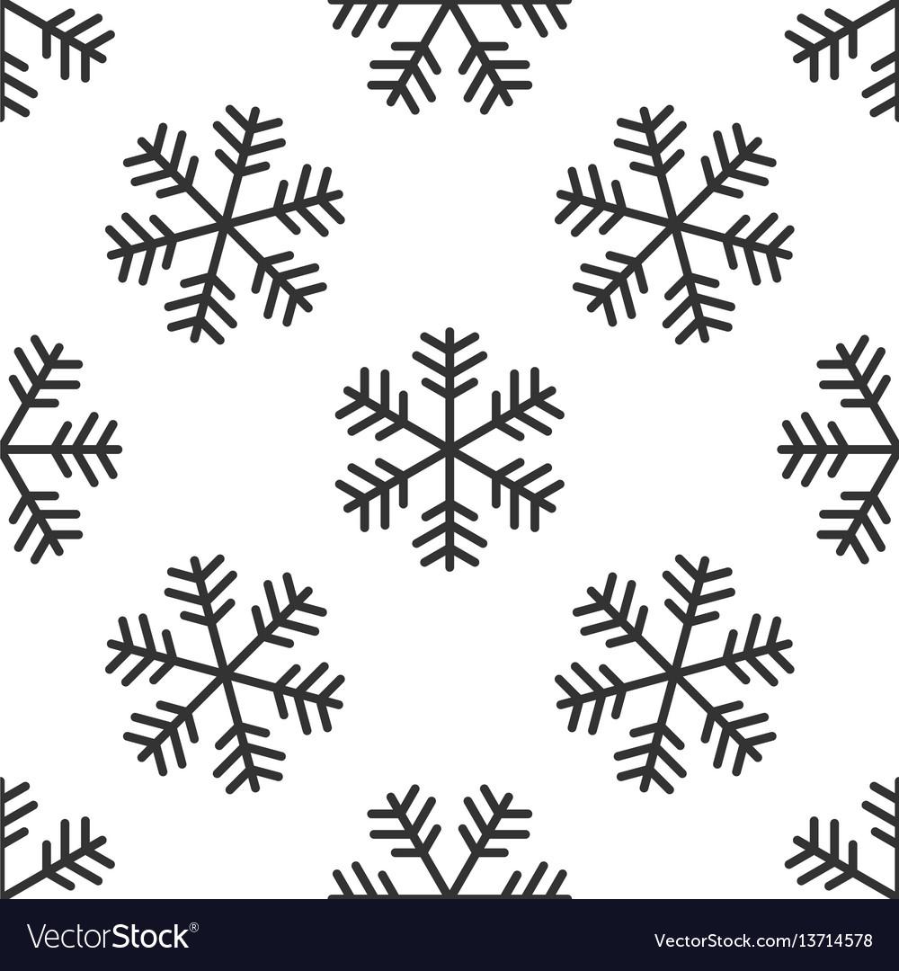 Snowflake icon seamless pattern on white