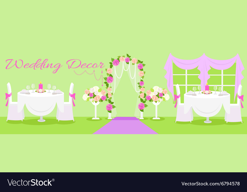 Wedding decor fashion interior royalty free vector image wedding decor fashion interior vector image junglespirit Gallery