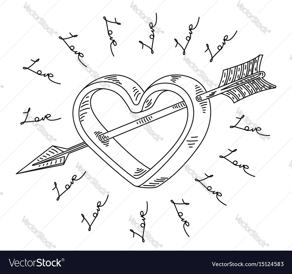 Arrow cupid symbol love