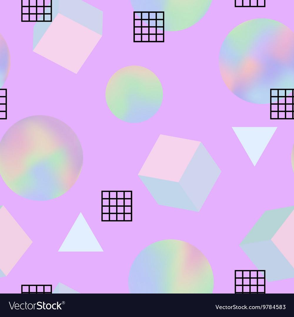 Geometric trendy 80s retro seamless pattern