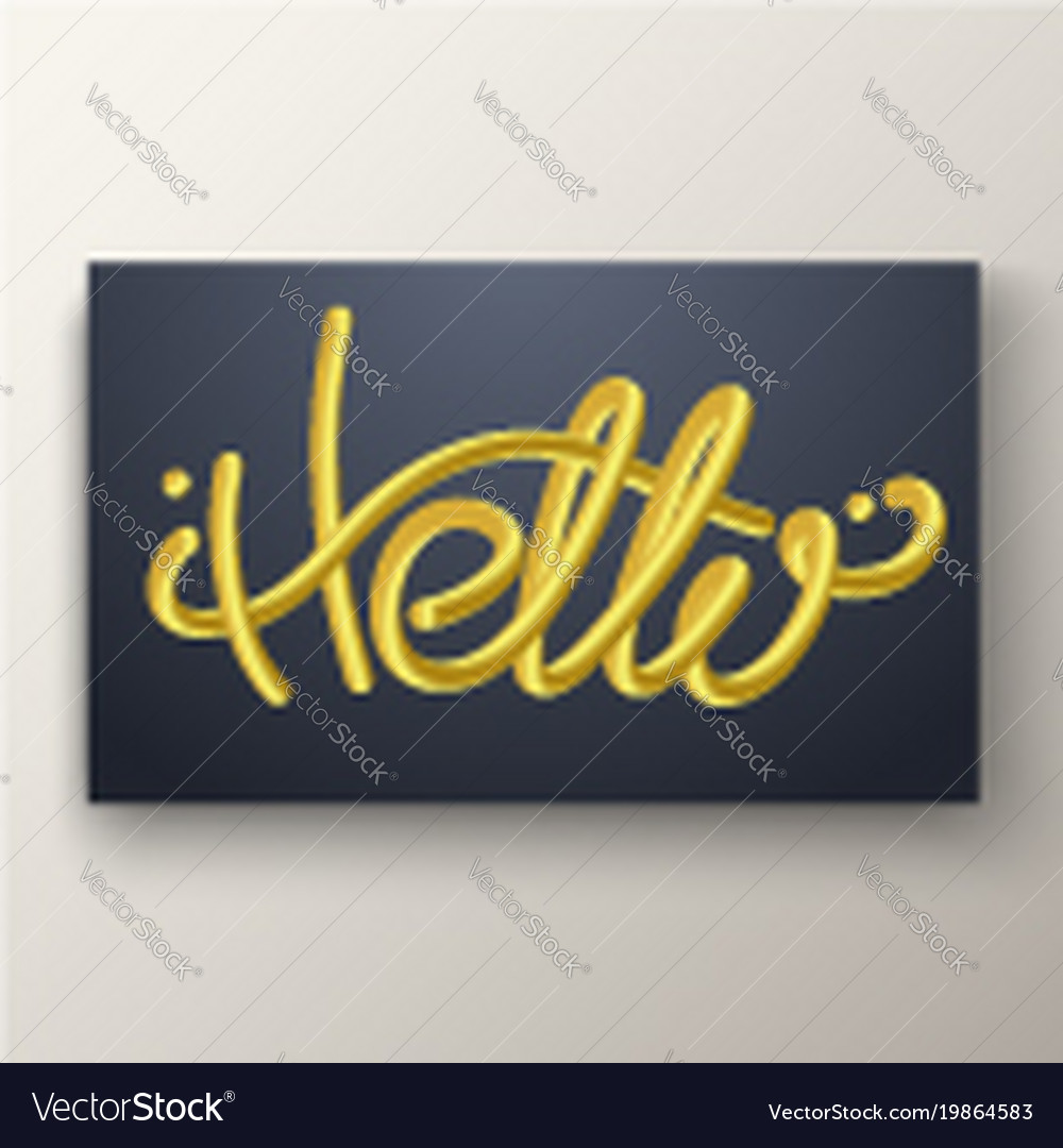 Glossy Gold Blended Letters 3d Bubble Font Vector Image