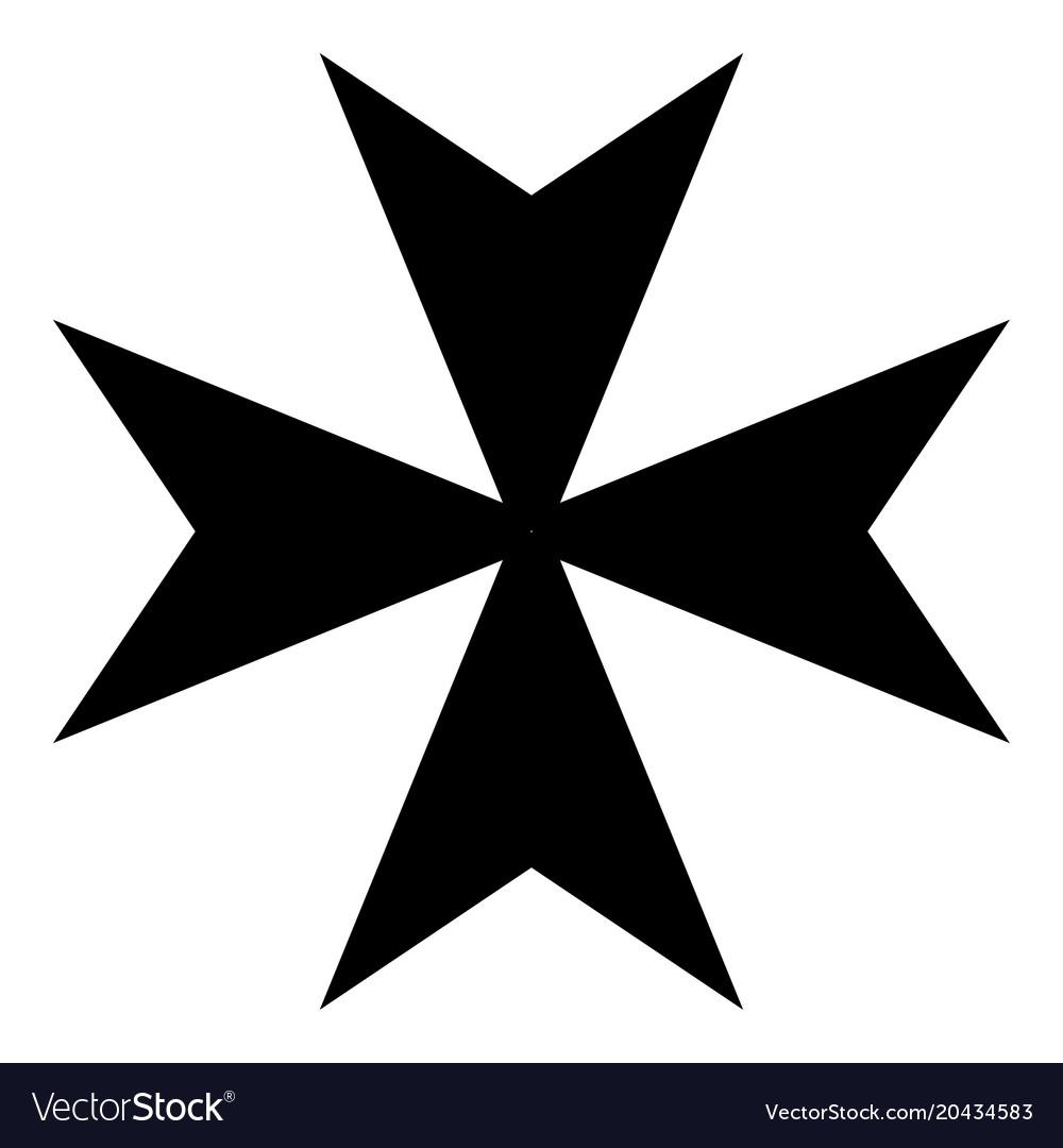 maltese cross icon black color flat style simple vector image rh vectorstock com maltese cross vector file maltese cross vector free