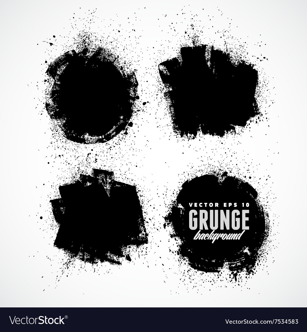 Set of four grunge banners