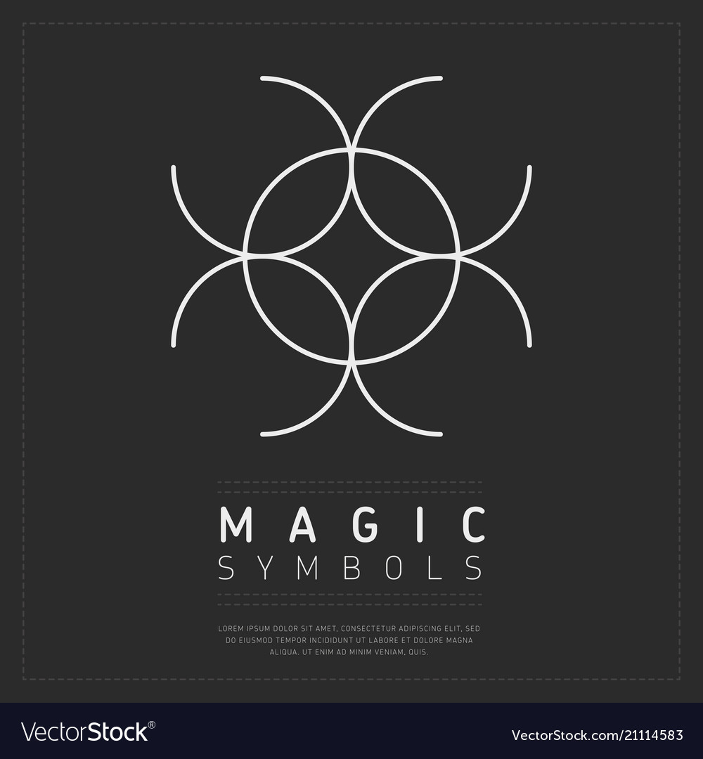 Spiritual Magic Symbol On Gray Royalty Free Vector Image