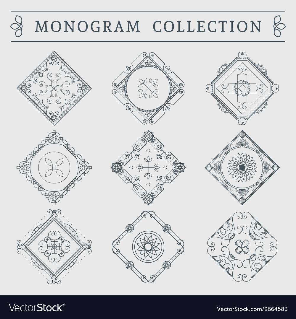 Vintage monogram set