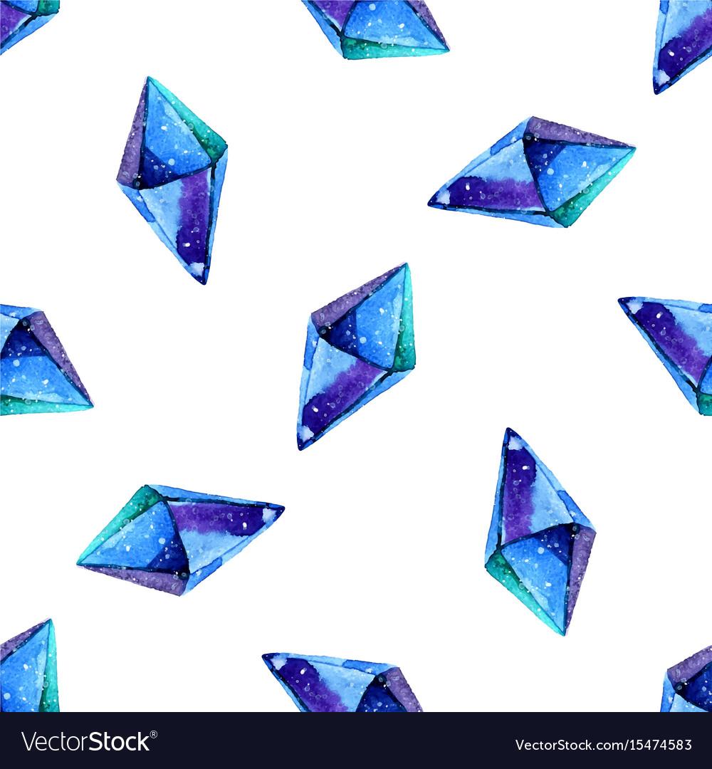 Watercolor of diamond crystals