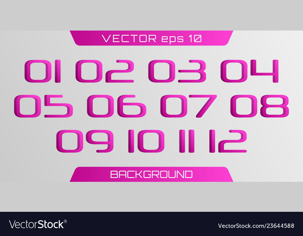 3d number template
