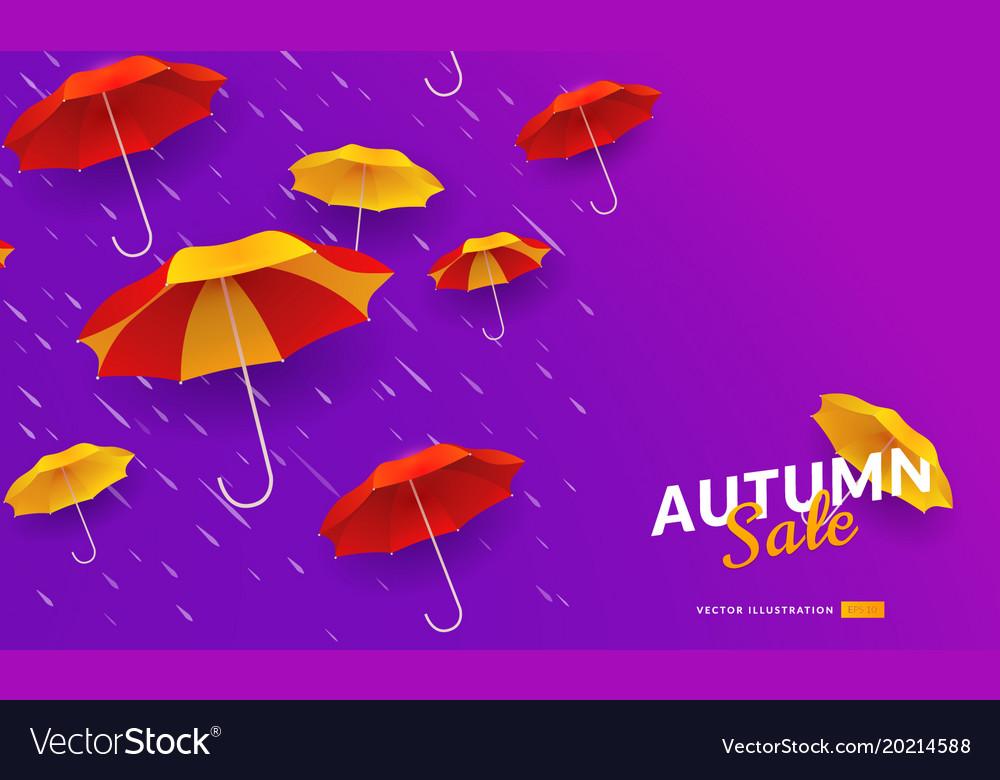 Autumn sale poster