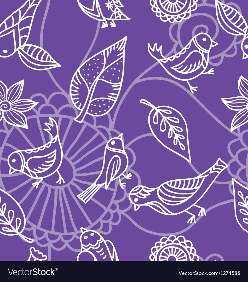 Flower and bird pattern