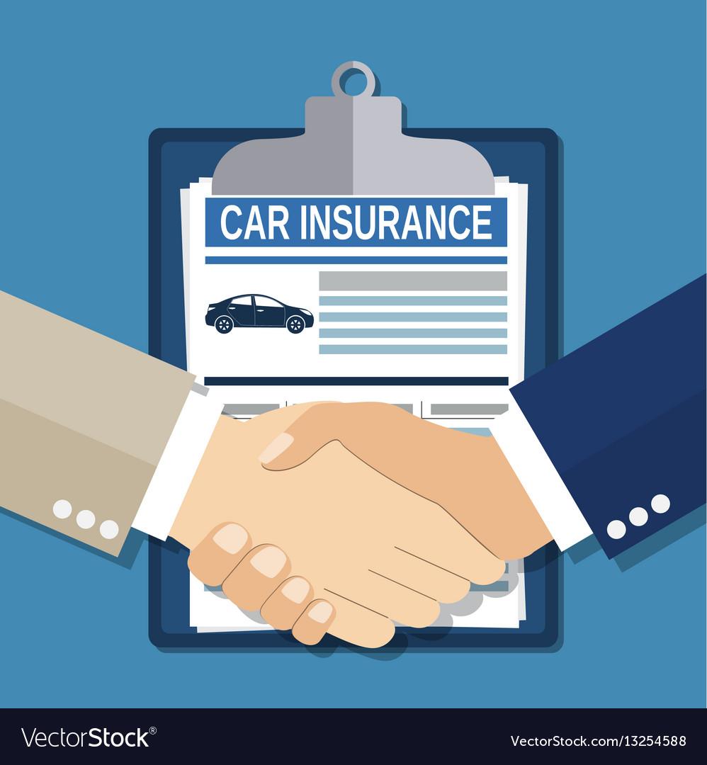 Insurance concept handshake