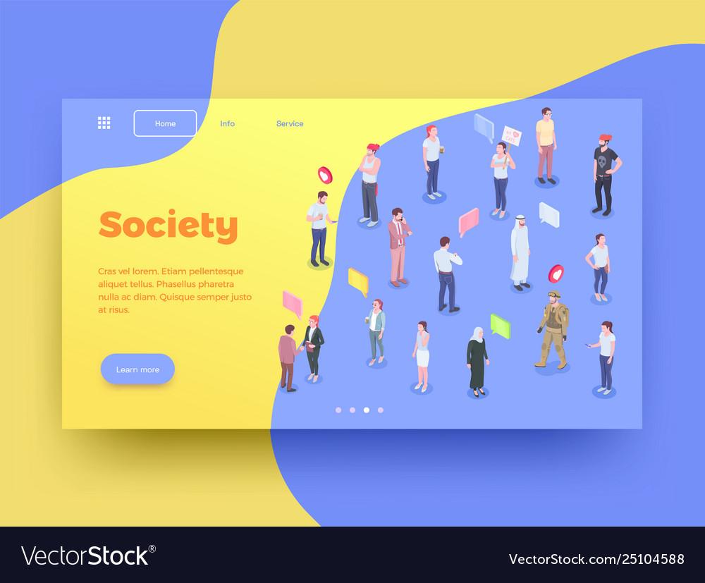 Society landing page design