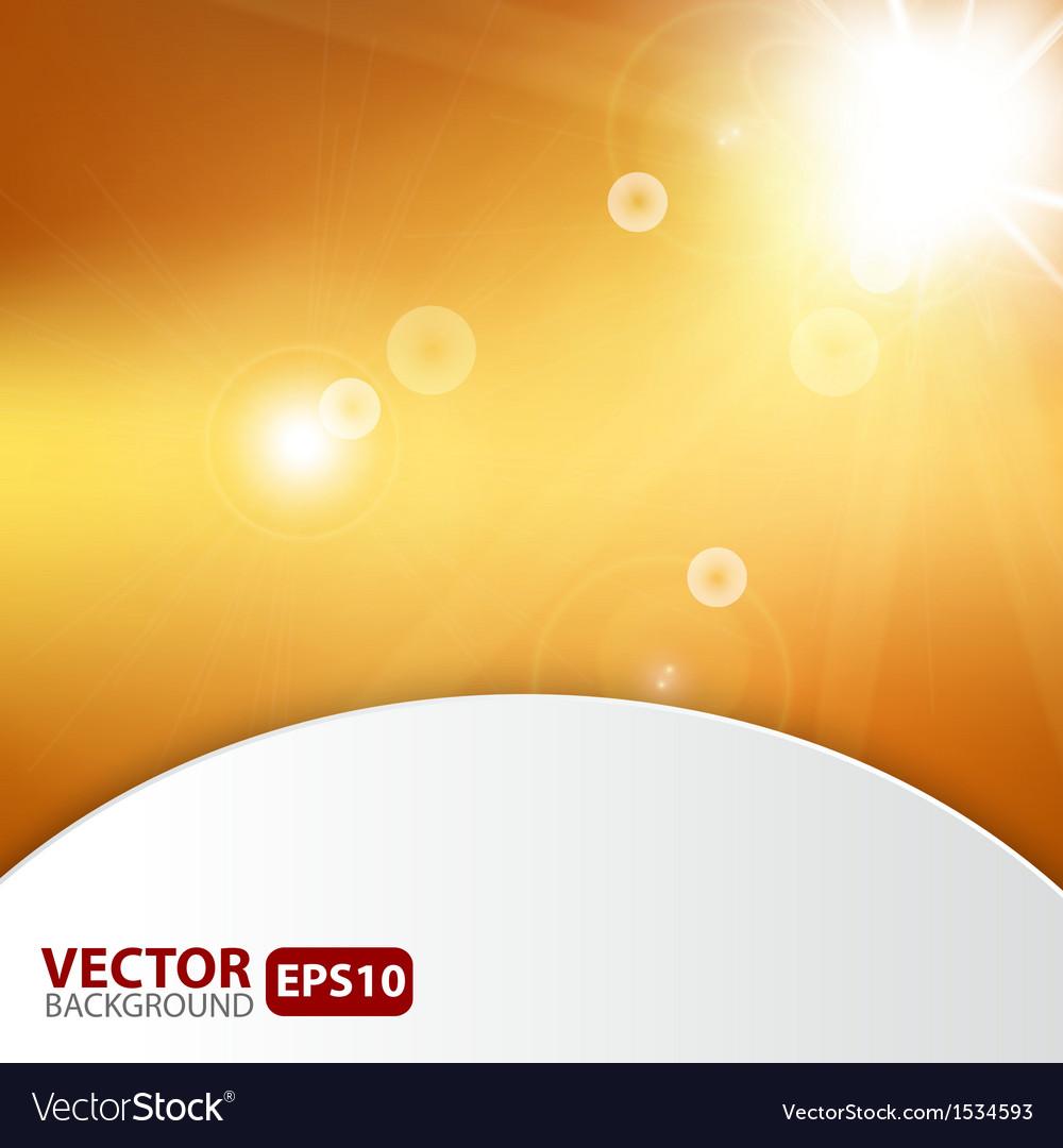 Autumn abstract background with sunburst flare