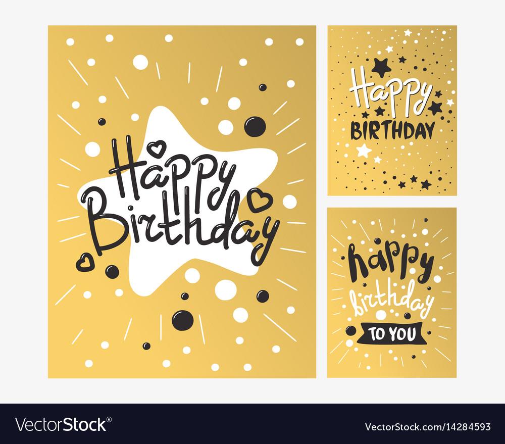 Beautiful birthday invitation card design gold and
