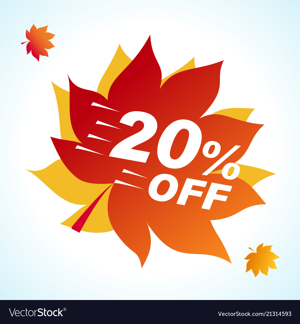 Bright banner for autumn sale discount offer