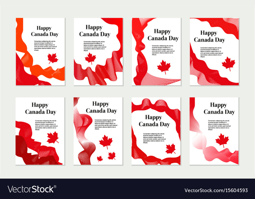 Canada day set of templates for your design