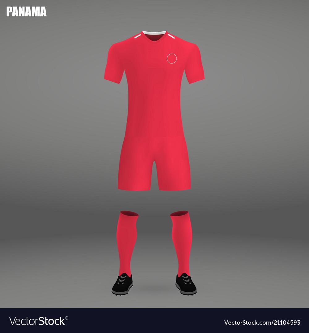 45d3edfe2b5 Football kit of panama 2018 t-shirt template for Vector Image