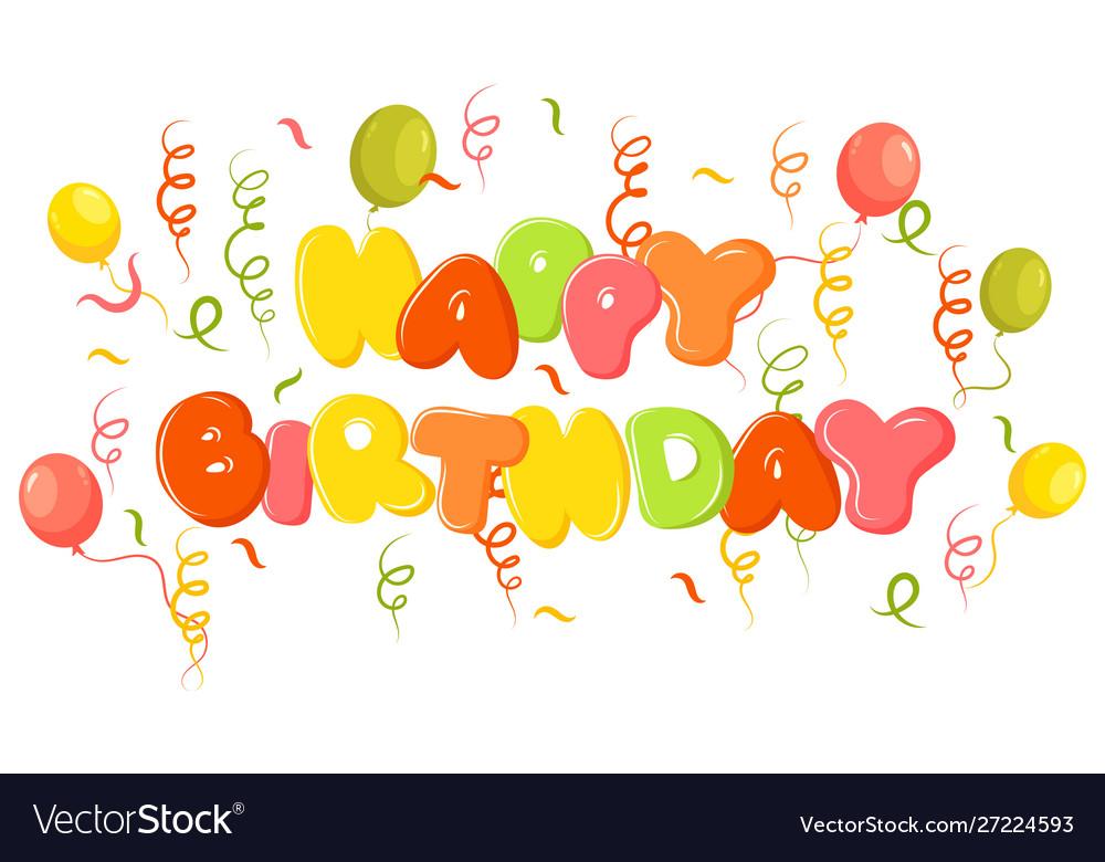 Happy birthday banner a