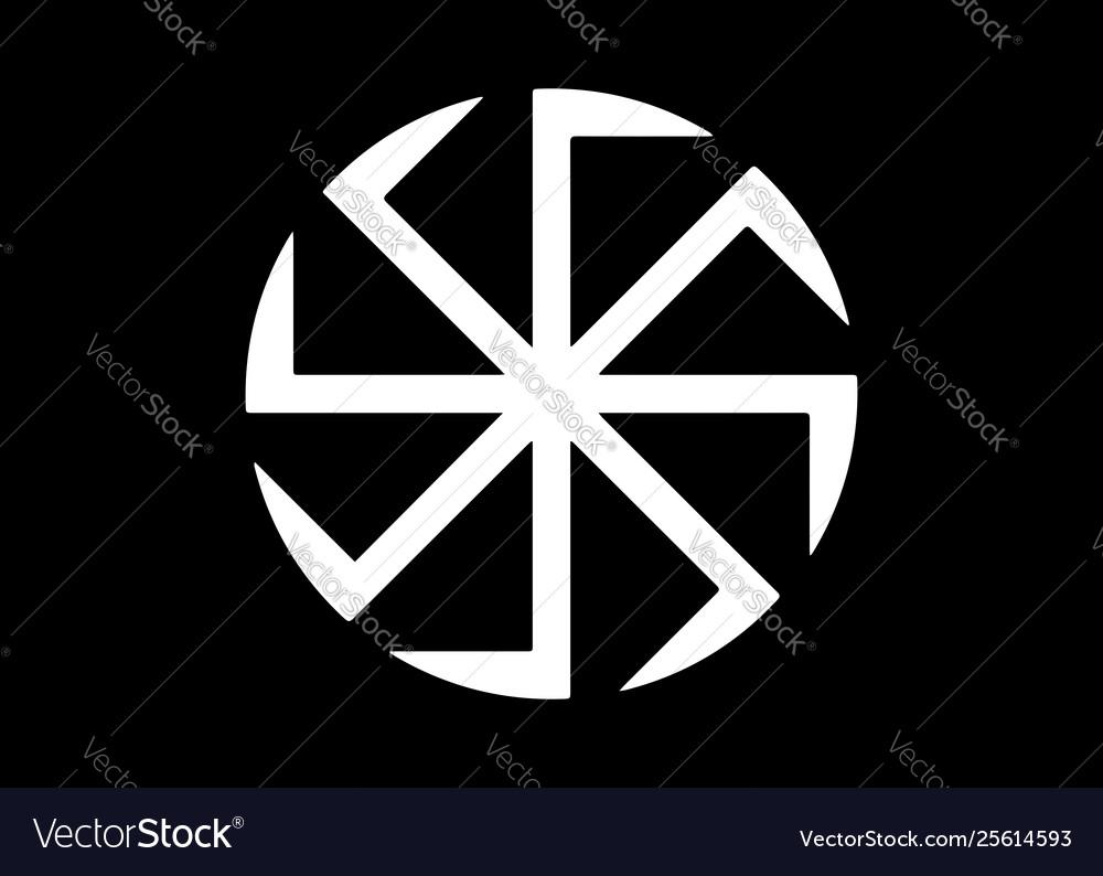 Kolovrat swastika or sauwastika isolated