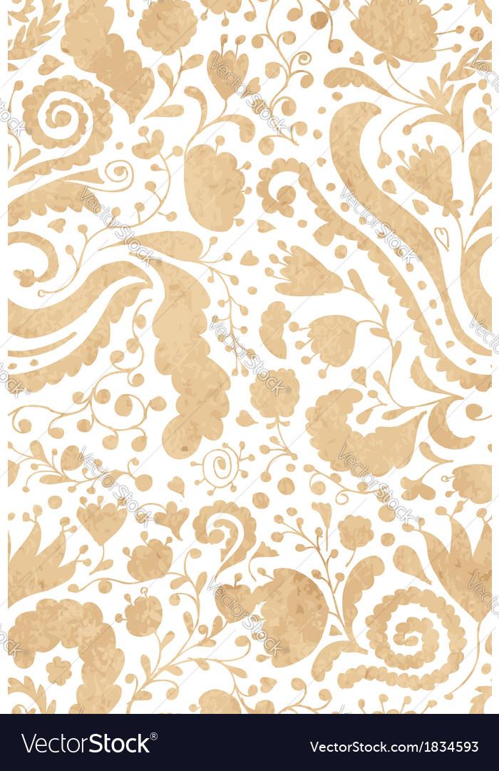 Vintage floral seamless pattern for your design vector image