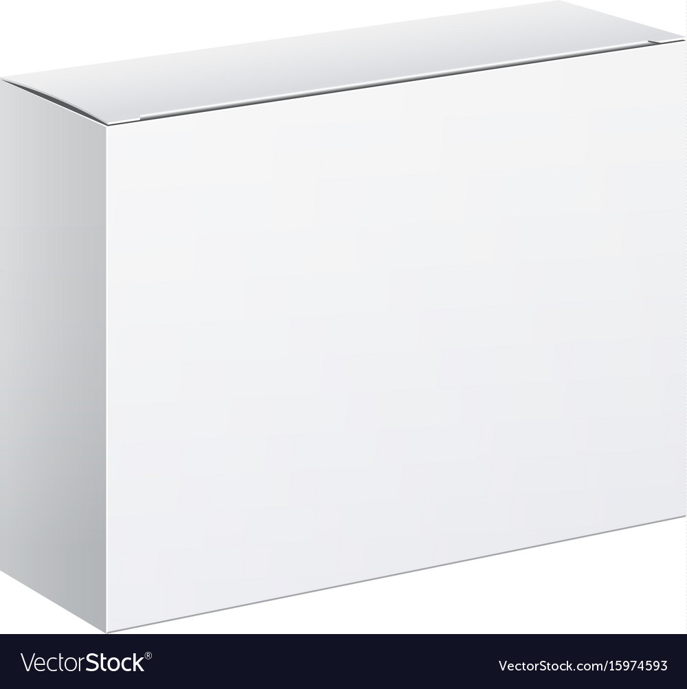 White package carton box for software vector image