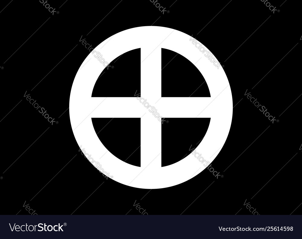 A sun cross solar cross or wheel cross isolated