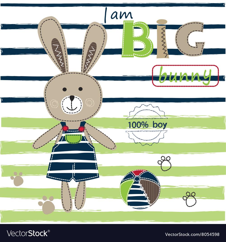 Background with bunny boy