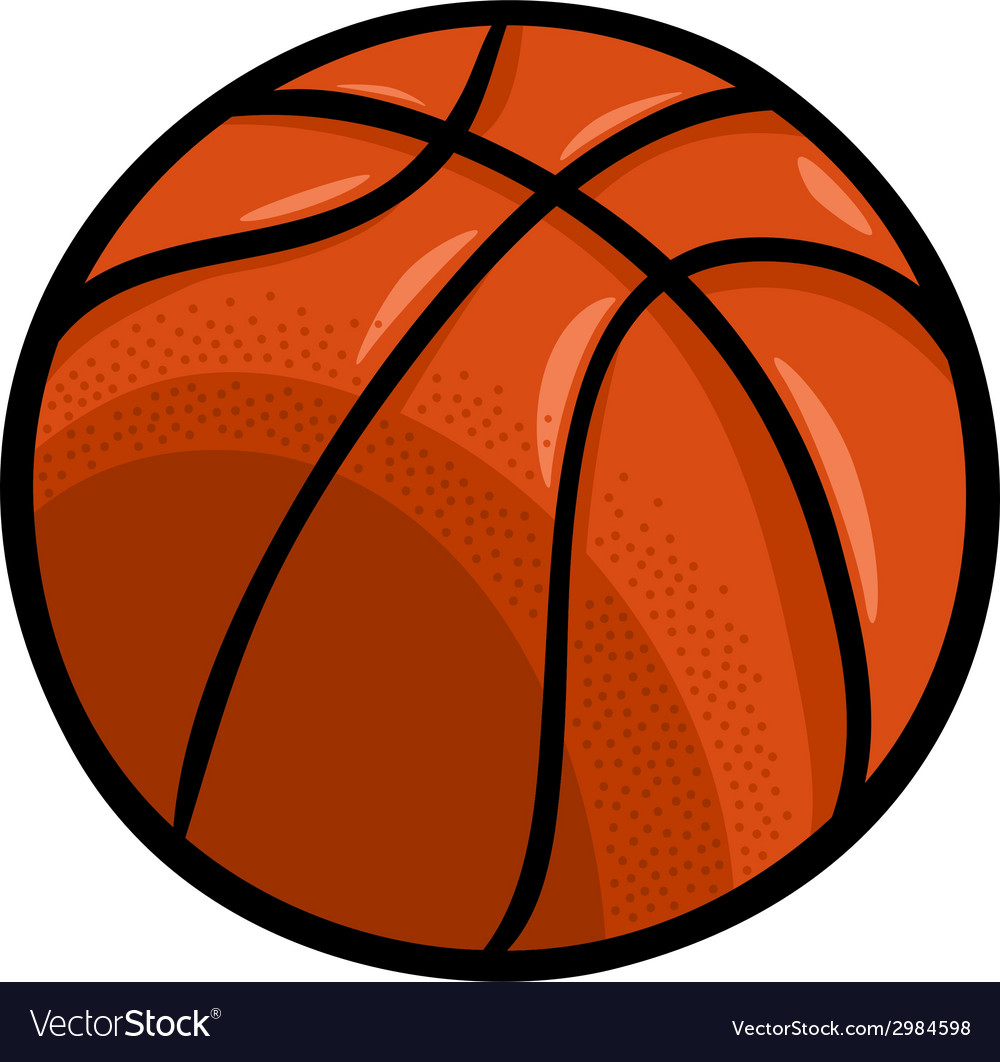 basketball ball cartoon clip art royalty free vector image rh vectorstock com basketball vector art basketball vector graphics