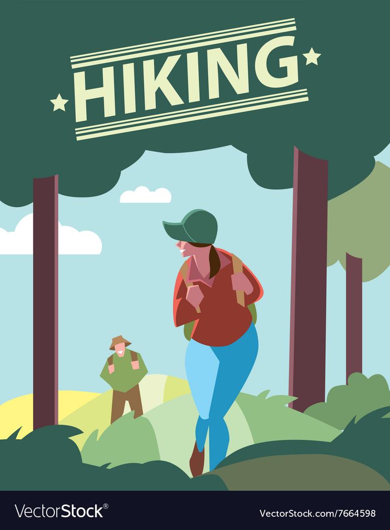 Hikers walking in outdoor