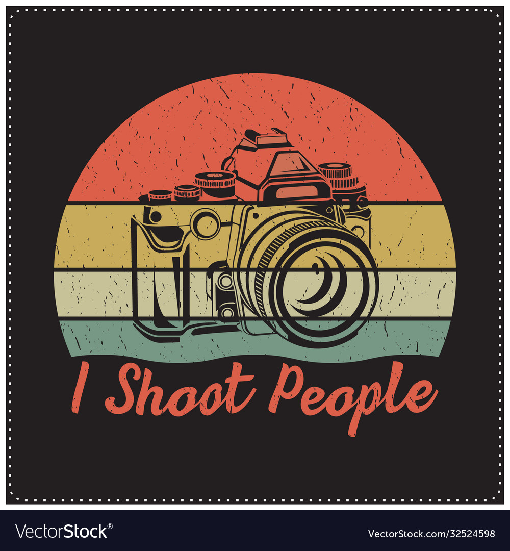 I shoot people saying design with a camera icon