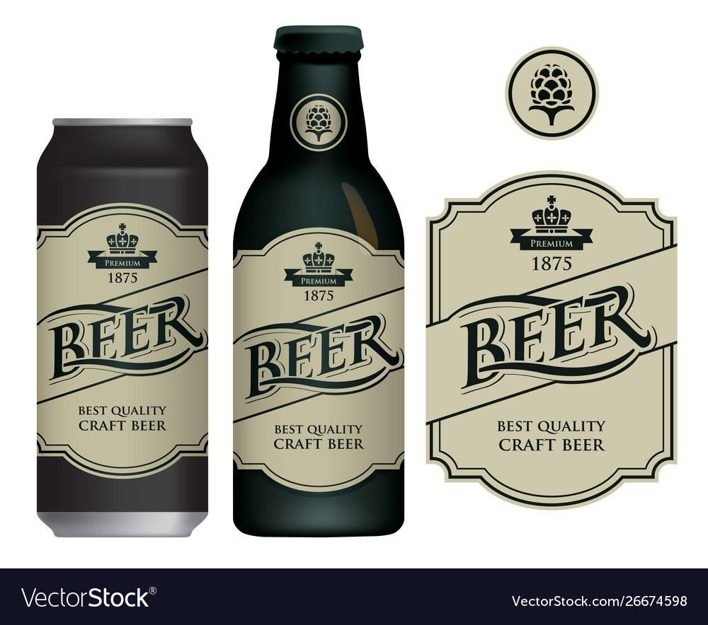 Label for craft beer in retro style
