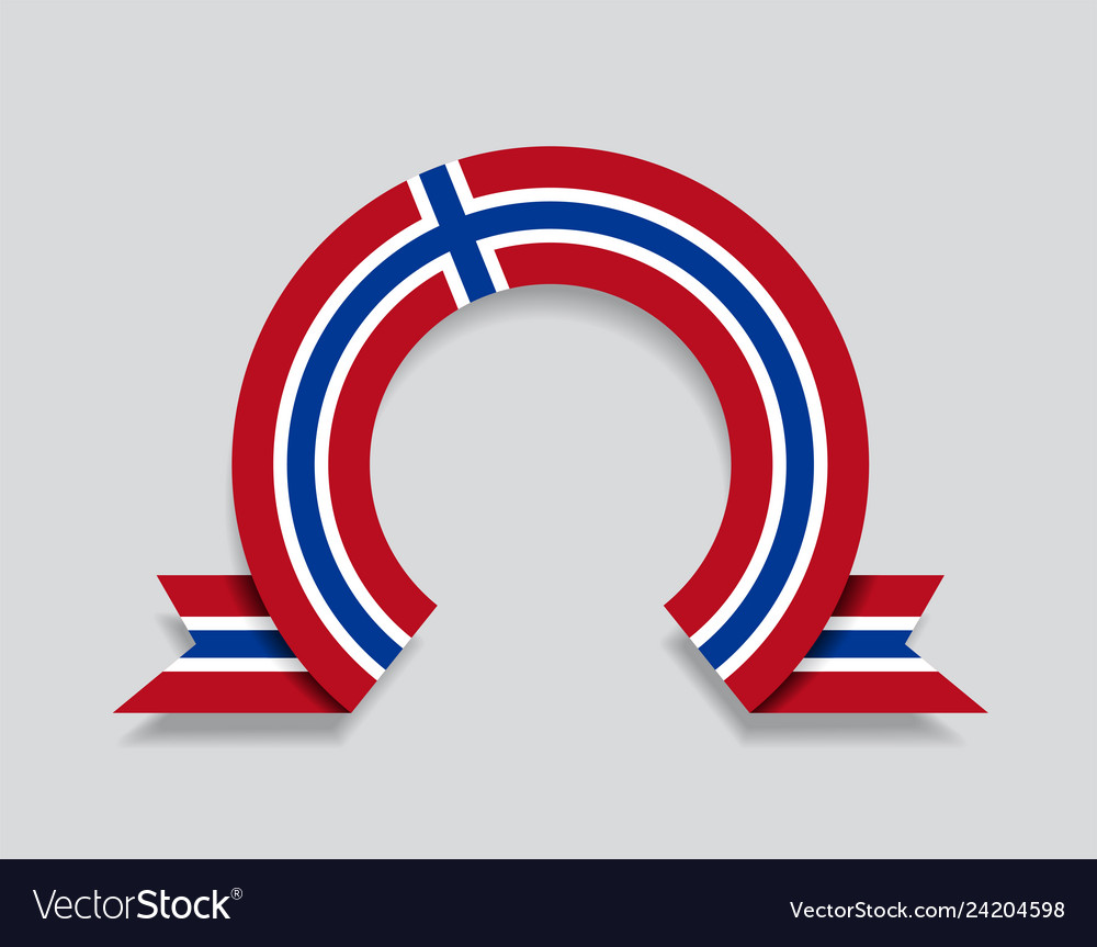 Norwegian flag rounded abstract background