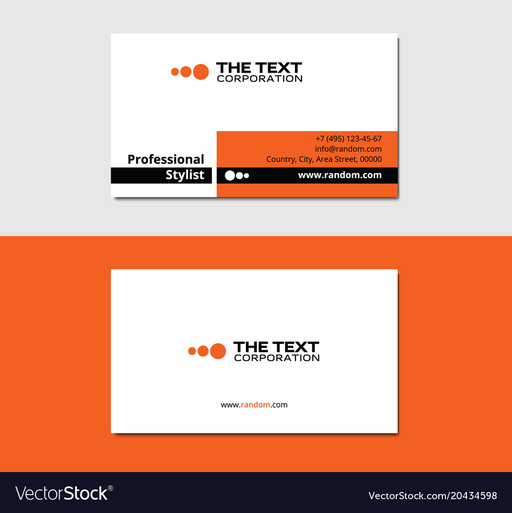 Painter business card Royalty Free Vector Image