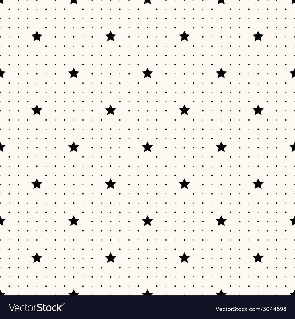 Seamless retro pattern with stars