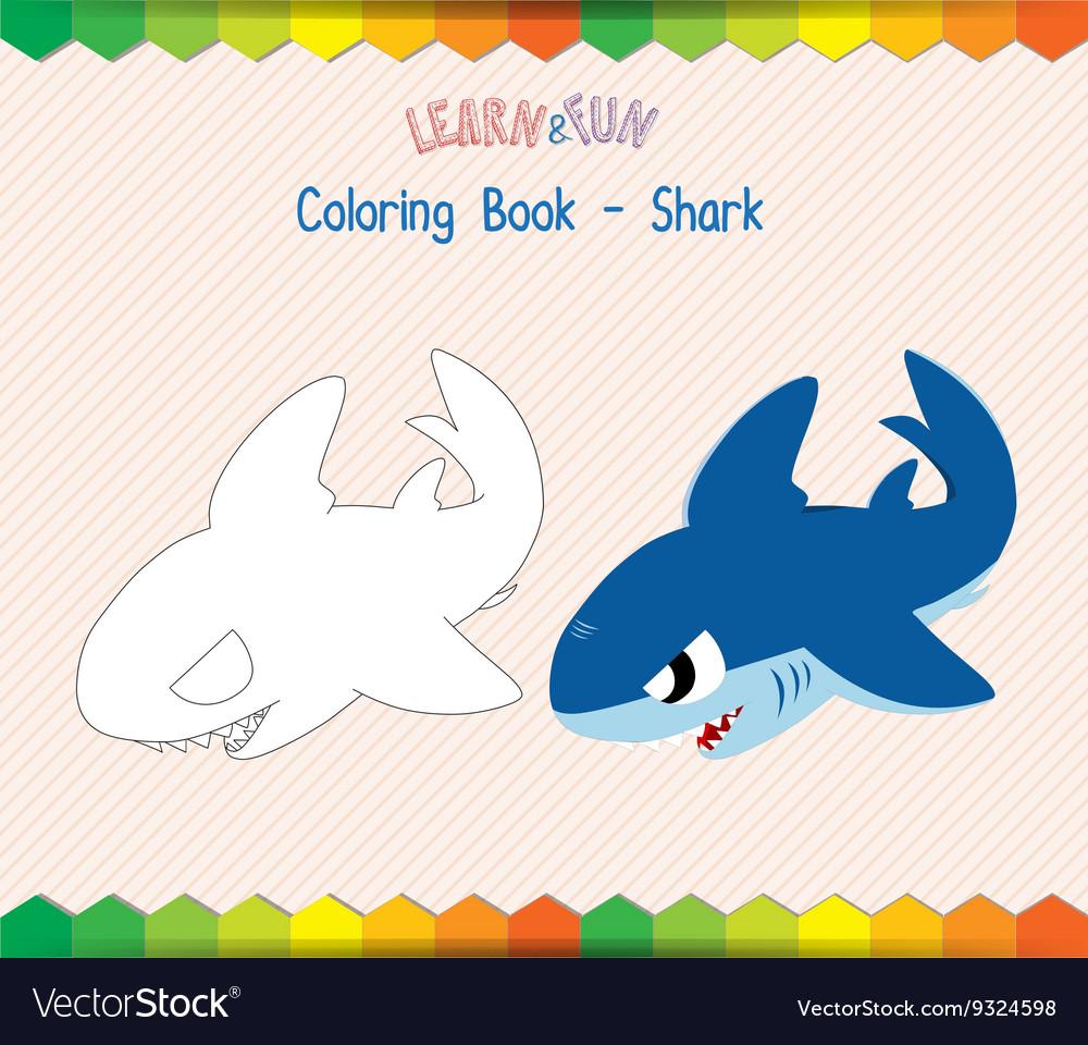 Shark Coloring Book Educational Game