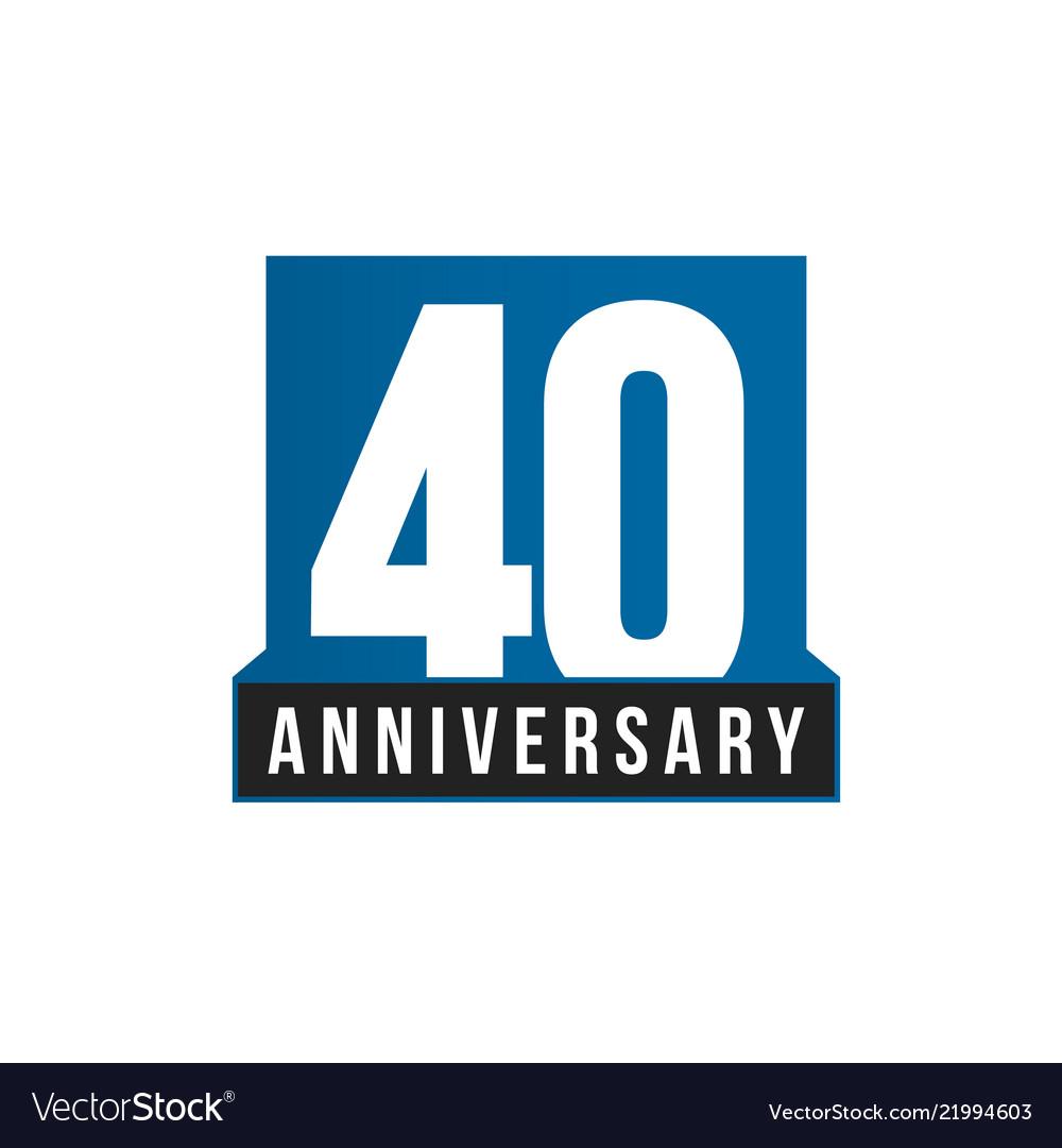 40th anniversary icon birthday logo
