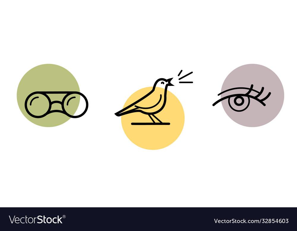 Bird watching icon