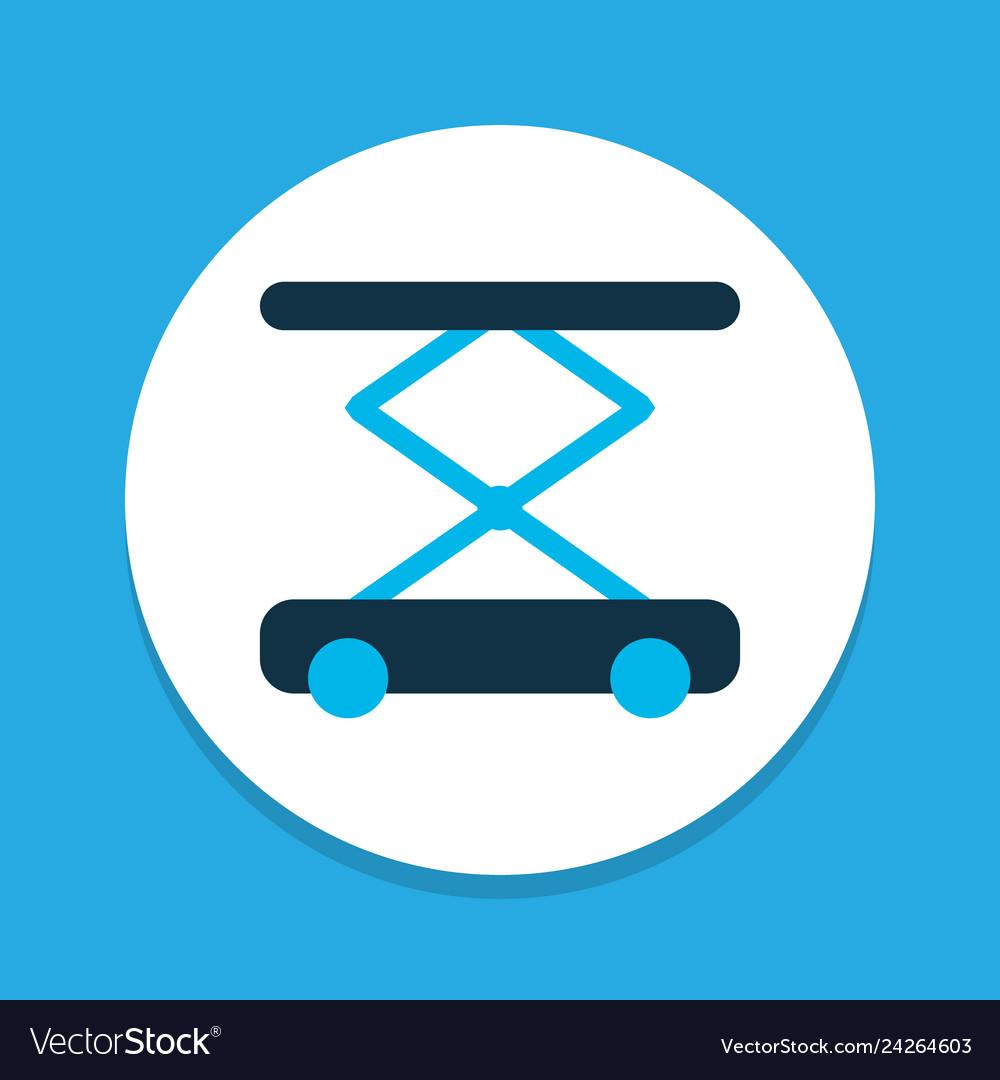 Construction hoist icon colored symbol premium