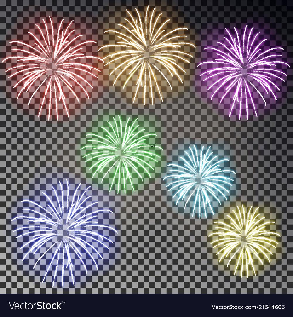 Festive fireworks set christmas firecracker light