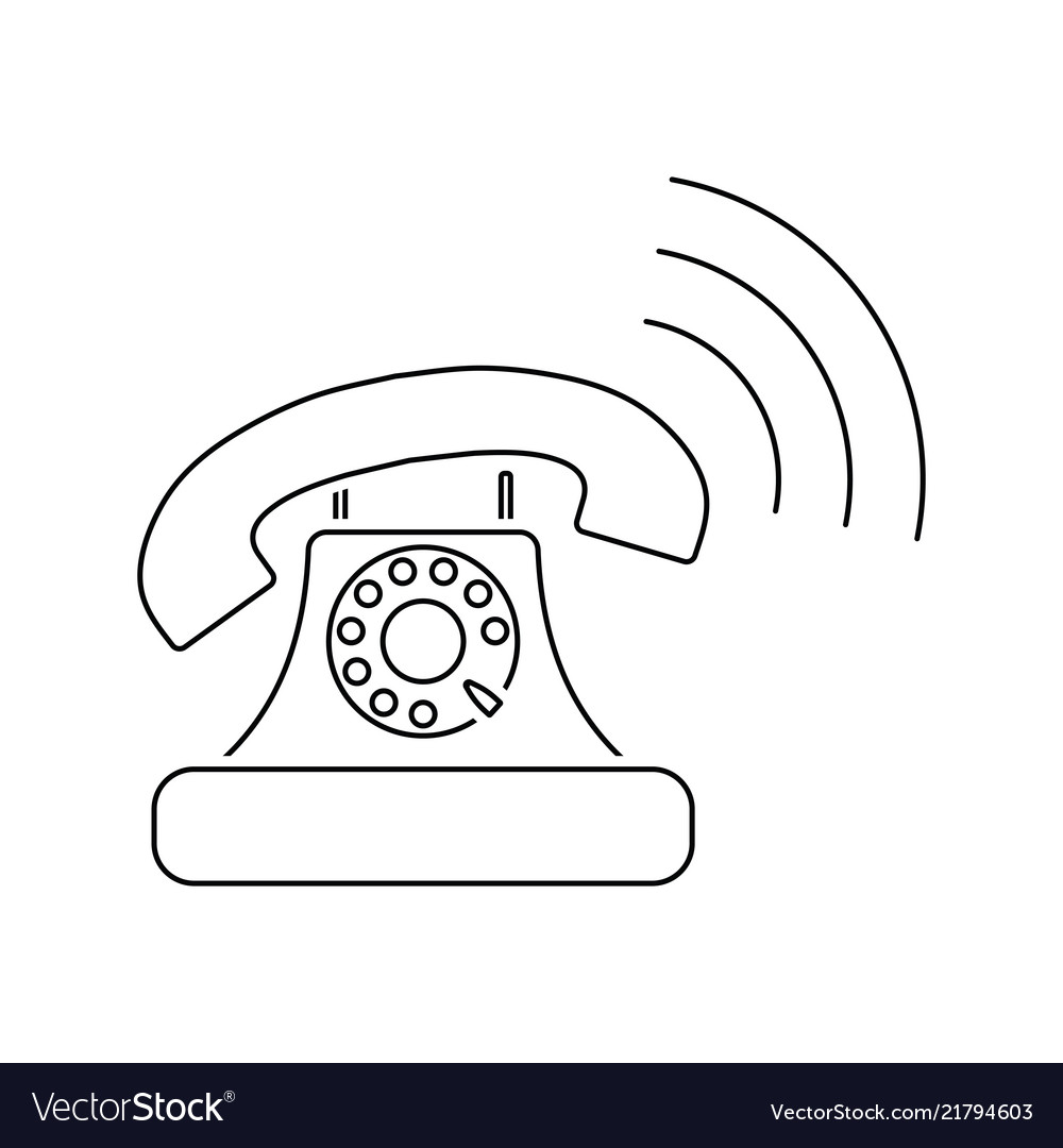 Old telephone icon